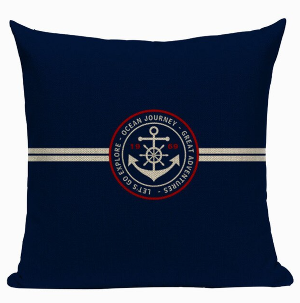 Ocean Journey Anchor Pillow Cover N11