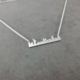 New York City Skyline Silver Necklace