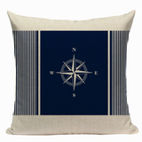 Nautical Compass Pillow N4