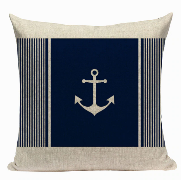 Nautical Anchor Pillow Cover N8
