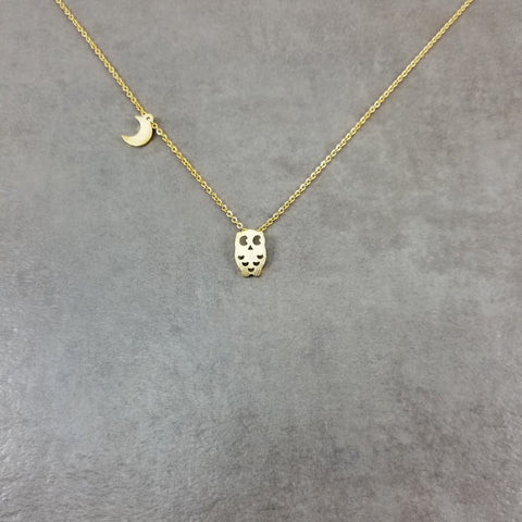 Owl Gold Necklace