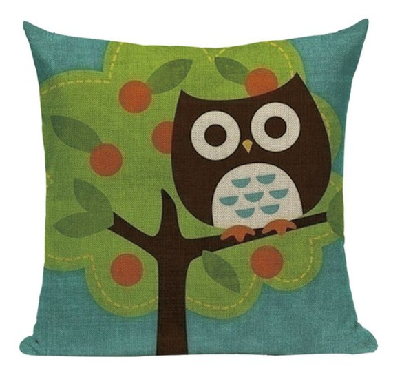 Owl Apple Tree Pillow O3