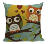 Owls On Branch Pillow O5