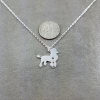 Poodle Dog Silver Necklace