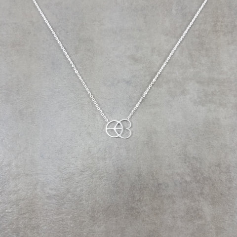 Peace Love Silver Necklace