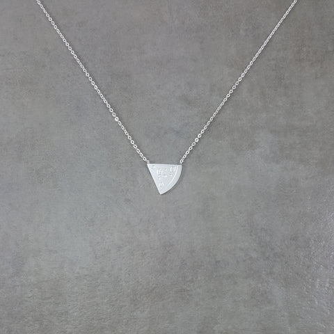 Pizza Slice Silver Necklace