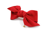 Hair Bow Clip Red HB4