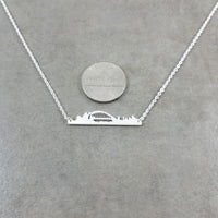 Sydney Skyline Silver Necklace