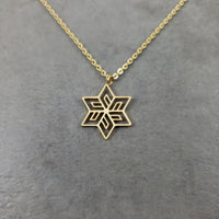 Flower Star Gold Necklace