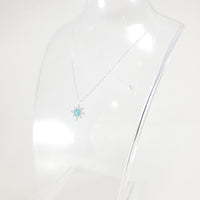 Star Sun Opal Silver Necklace