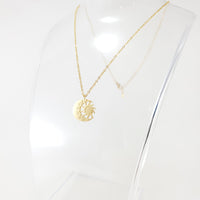 Sun Moon 2 Gold Necklace