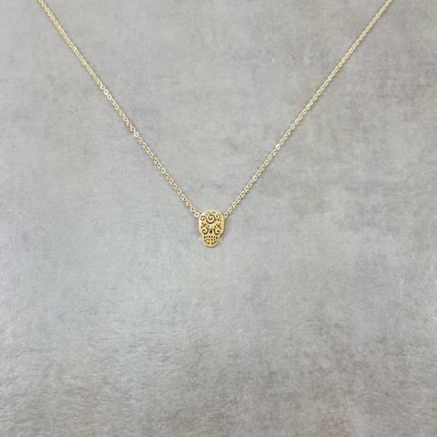 Skull Calavera Gold Necklace