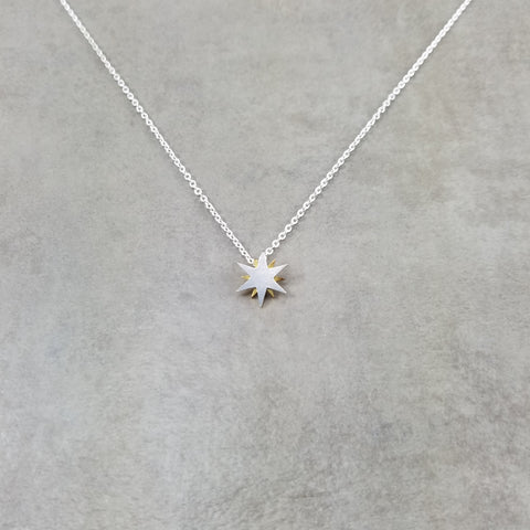 Star Sun Silver Necklace