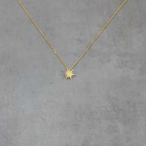 Star Sun Gold Necklace