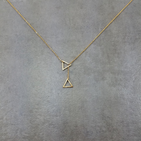Double Triangle Gold Necklace
