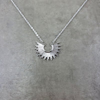 Tribal Bib Silver Necklace