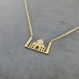 Taj Mahal Gold Necklace