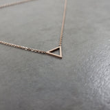 Triangle Rose Gold Necklace