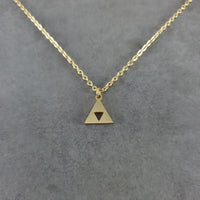 Triforce Gold Necklace