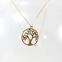 Tree Of Life Gold Necklace