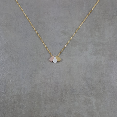 Three Drops Gold Necklace