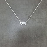 World Map Silver Necklace
