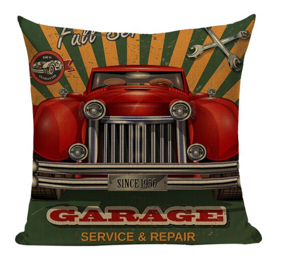 Retro Garage Service Repair Pillow Cover VC11