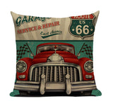 Vintage Car Repair Pillow VC4