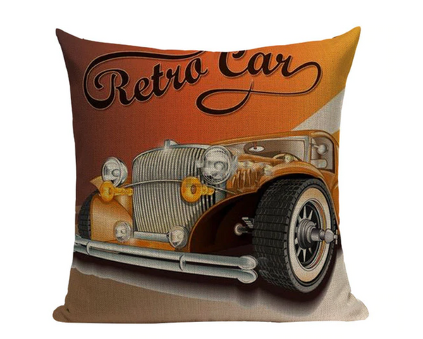 Retro Car Pillow Cover VC8