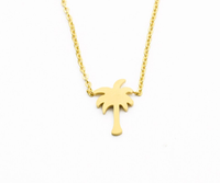 Palm Tree Gold Necklace