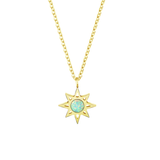 Star Sun Opal Gold Necklace