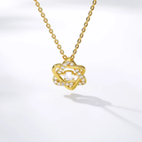 Star of David CZ Gold Necklace