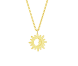 Sun Moon Gold Necklace