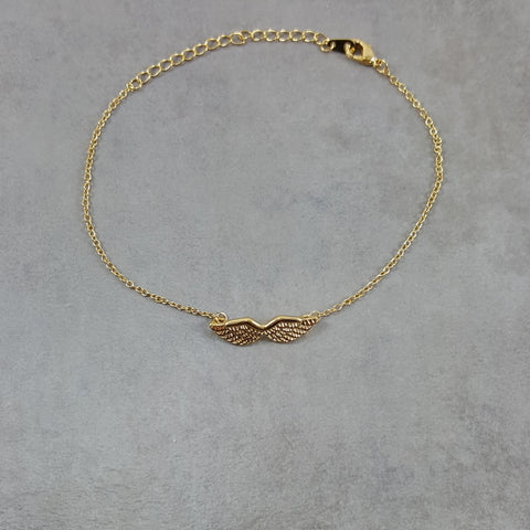 Angel Wings Gold Bracelet
