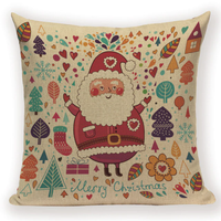 Santa Christmas Collage Pillow Cover X10