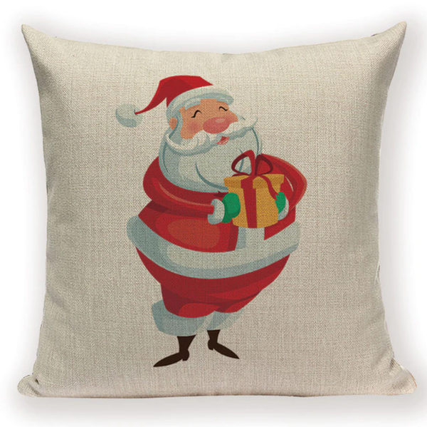Happy Cartoon Santa Pillow Cover X4