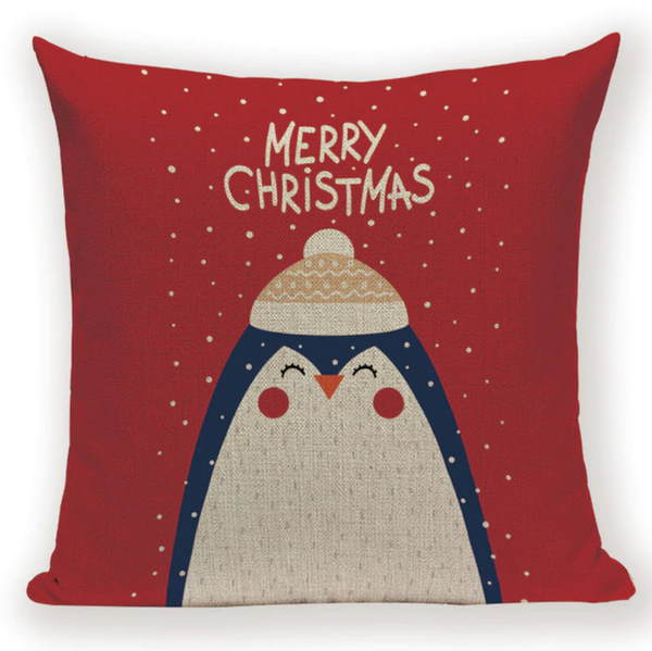 Merry Xmas Penguin Pillow Cover X9