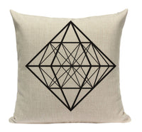Black Diamond Pattern Pillow YG10