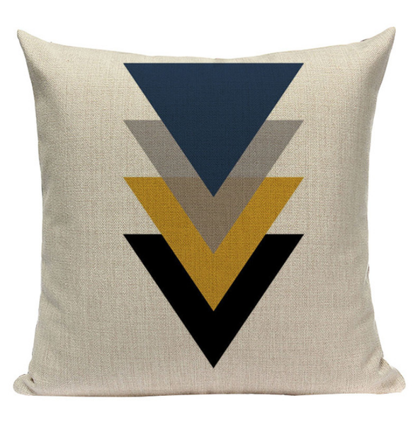 Yellow Triangle Pattern Pillow YG1
