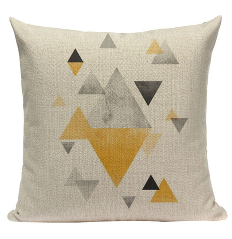 Yellow Triangle Pattern Pillow YG2