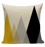 Yellow Triangle Pattern Pillow YG3