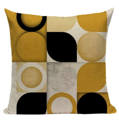 Yellow Variety Textures Pattern Pillow YG5