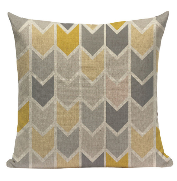 Yellow Pattern Pillow YG8