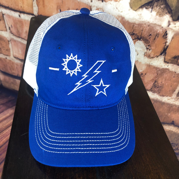 Sun, Bolt, and Star Trucker Cap