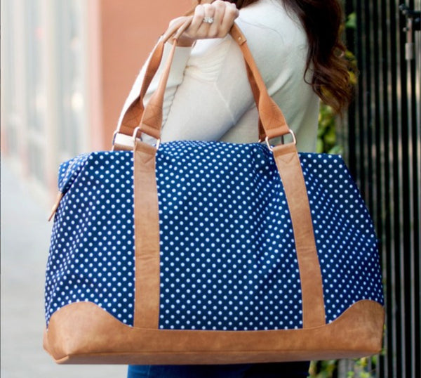 Charlie Dot Weekender Bag with Embroidered Full Color