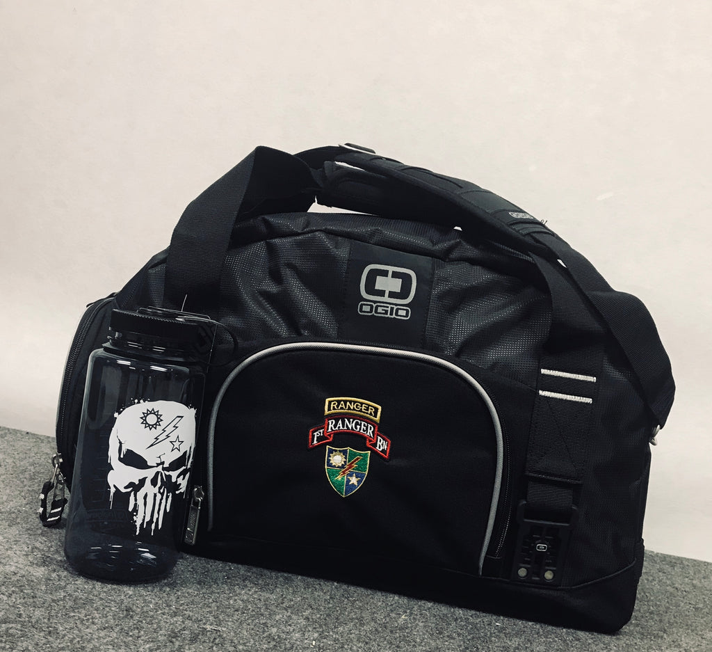 OGIO Big Dome Gym Bag Embroidered w/ Battalion Scroll, Tab, and DUI