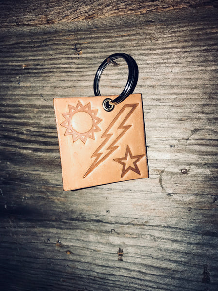 Sun-Bolt-Star Key Chain