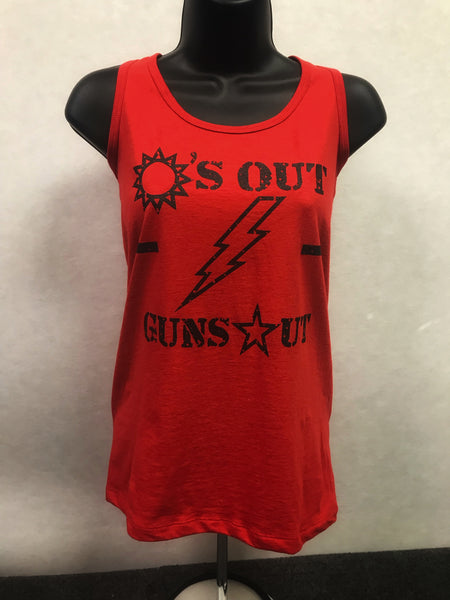 Suns Out Guns Out Perfect Tank - Women