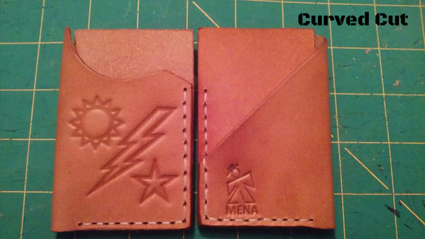 Sun Bolt Star Curved Cut Wallet