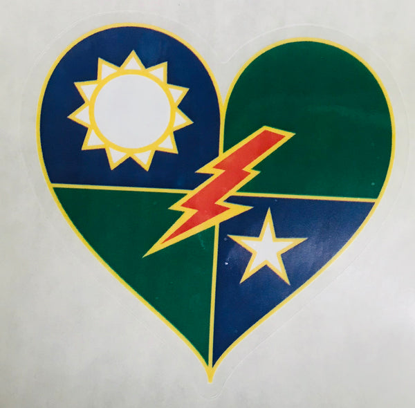 DUI Heart - 75th Ranger Regiment Heart DUI Sticker